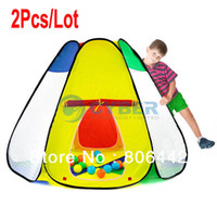 Cheap 2Pcs Lot New Children Kids Play Tent Toy Game House Baby Tent Indoor & Outdoor Tent Large Size 14843