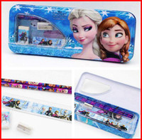 Unisex Toy Sets 24 Months & Up 2014 kids frozen learning items for Students anna elsa cartoon pencil cases ruler sharpener pencils Office & School Supplies stationery set