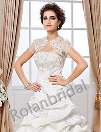 Wholesale 2014 Short Sleeve Lace Special Occasion Jacket Wedding Wrap