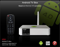 Wholesale Android TV Box Allwinner A10 GHz Measy A5A Smart TV box P HD Media Player Word Excel PPT file Support USB Web Camera AAA Quality