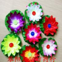 Cheap Lotus Wishing Lamps Paper Flower Water PRAYING Lanterns 20*20cm Floating Candle Light For Wedding Parties Birthday Lantern 50pcs lot KM003