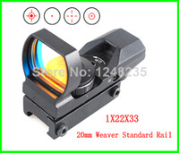 air rifles - Holographic sight X22X33 Reticle Reflex Hunting paintball Air Soft Rifle Scope Red Green Dot Sight mm mount