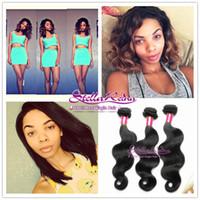Brazilian Hair Body Wave AAAA 6A Grade Healthy Natural Black Brazilian Virgin Hair Body Wave Weave 3-4 pcs Bundles Unprocessed Human Hair Wefts Extensions
