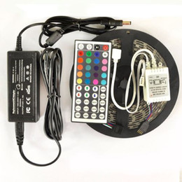 5M 5050 SMD RGB Led Strip Light Waterproof non-waterproof 300 LEDs Roll with Controller with 12V 5A Power Supply Adapter LED Light
