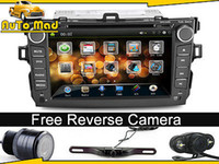 Wholesale solid Car Dash DVD GPS Head Unit Stereos System for Toyota Corolla Reverse Rear Camera