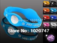 Wholesale MN l blue Silicone Bracelet with Hologram Bracelets Power Bands Balance Energy Wristband With