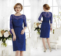 royal blue lace mother of the bride dresses 2014 crew sheer ...