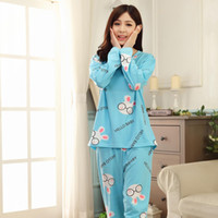 Wholesale Hot sale winter long sleeved cotton nightgown pajamas female stall selling home service package CY190