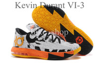 Wholesale 2014 Kevin Durant VI KD Mens Basketball Shoes Athletic Kd6 Sneakers High Flying Design Basketball Shoe Sports Shoes Outdoor Sports Shoes