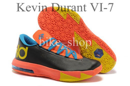 Wholesale Men Basketball Shoes Kevin Durant VI KD Sneakers Lightweight Breathable Extraordinary Feel Best Comfort Stability Outdoor Sports Shoes