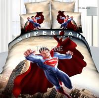 Cheap frozen quilt cover set queen size bedding set for kids 4 pcs bedding sets 100%cotton spiderman comforter set superman bedding set hot sale
