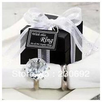 Cheap wedding favor--His & her Crystal Napkin Ring