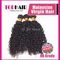 Wholesale A Malaysian Virgin Hair Extensions Remy Human Hair Weave Weft Deep Wave Curly b Color quot quot DHL