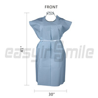 Wholesale Easyinsmile Nurse Woman Patient disposable gown for exam