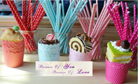 Wholesale paper straw and cupcake cakecup liners muffin cases baking window cake boxes