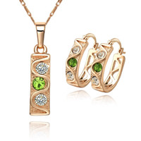 Cheap 2014 Hot Sell High Quality 18K CC Color Zircon Gold plated Fashion Ladies Jewelry set.African Wedding Costume Jewelry Bijuterias