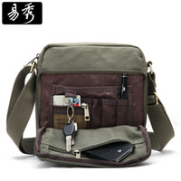 Wholesale 2015 Canvas Satchel Bag Fashion Shoulder Bags Men Multi Function Messenger Bag for IPAD Brown Green Khaki BFK010502