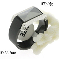 Wholesale Men ceramic stainless steel ring with high class screw