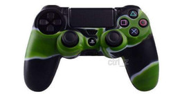 CAMO Colorful Soft Silicone Gel Rubber Case Skin Grip Cover For SONY Playstation 4 PS4 Controlle case