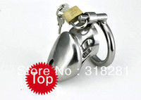 Cheap FREE SHIPPING sex toys ,love toys stainless steel male chastity lock belt Small cage A077