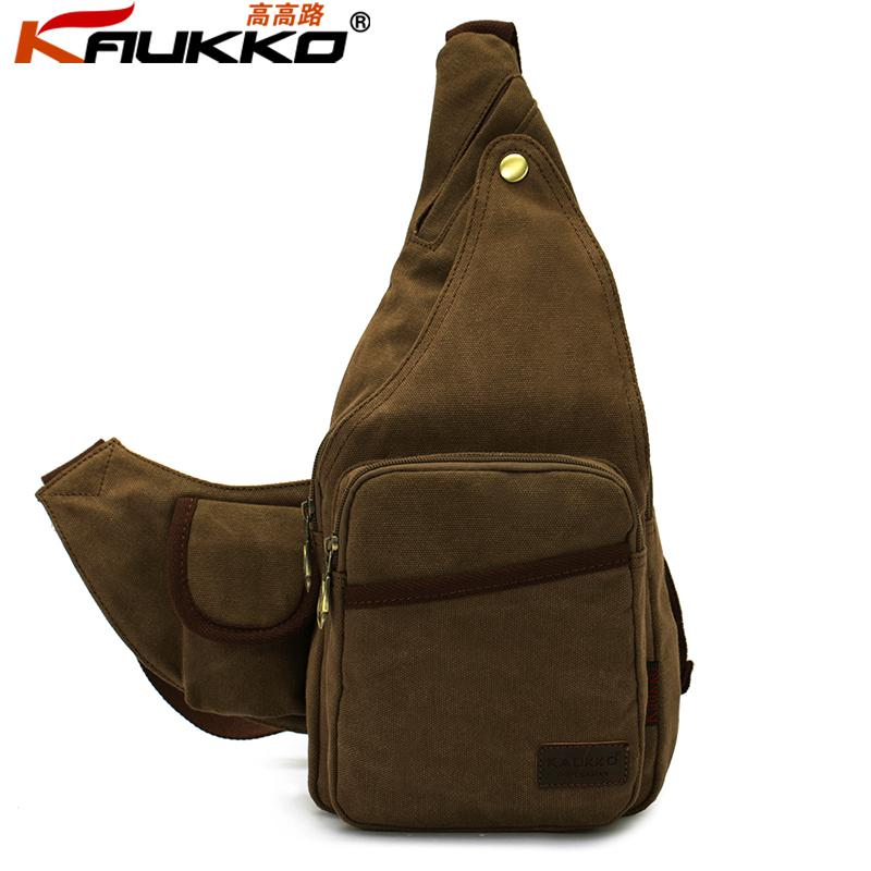 Brand Cotton Fashion Vintage Outdoor Canvas Men Bicycle Chest Pack ...