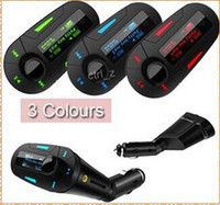 car mp3 - New Car Kit MP3 Player Wireless FM Transmitter Modulator wma wireless USB SD MMC LCD With Remote Blue red Light