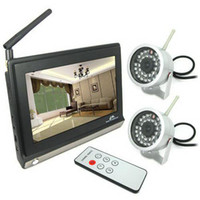 Wholesale GHz Wireless CH Inch LCD Video Audio Monitor Wireless Waterproof CCTV Cameras with IR Night Vision