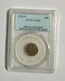 Wholesale 1916 D C PCGS AG03 AG04 Genuine KEY DATE Mercury Head Dimes