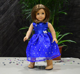 Wholesale Doll Clothes fits quot American Girl Two Silver Color Butterfly With Paillatte Doll Skirts Colors For Choice