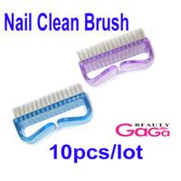 Nail Clean Brush 10pcs/lot Plastic 10pcs lot Nail Salon Products Supplier in China Nail Tools Nail Polish with Handle Kolinsky Acrylic Nail Brush Nail Art Brush