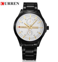 Cheap Luxury Quality CURREN Brand Japan Movement Quartz sports watches full Steel band Wrist Watch Men Business Clock Military Casual Watches 8128