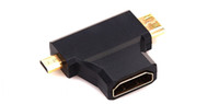 Wholesale 100pcs in Micro HDMI male Mini HDMI male to HDMI Female adapter converter for HDTV P