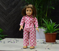 Wholesale Doll Clothes Pajamas for American Girl doll girl birthday gift Designs For Choice