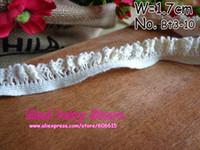Wholesale Zakka Cotton Elastic Lace Ribbon Sewing Tape Beige Lace Webbing Cluny Lace Trim mm x yards