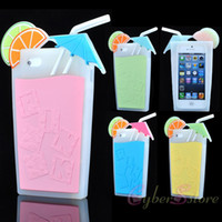 fresh apple - For iPhone S S Fresh Cool D Juice Glass Bottle Soft Silicone Back Case for iphone5 S G S