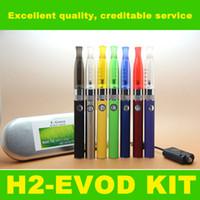 aluminum cigarette case - Evod battery colorful GS H2 atomizer Cartomizer clearomizer aluminum case kit E Cigarettes colorful evod starter kit