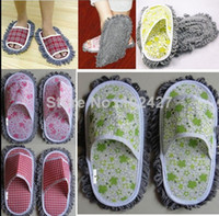 Wholesale Fashion Women s Soft Plush Slipper Wipe the Floor Mop Indoor Slippers Lazy Drag