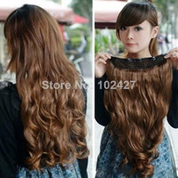 Wholesale One Piece Clip in Synthetic Hair Extensions Long Wavy Curly Hair Clips Women Hair Extension
