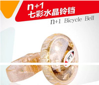 Wholesale RINGER BICYCLE BIKENEW N Rotate crystal Bike FLOWER BELL WITH MOUSE ON TOP RINGER BICYCLE BIKE Beetle Bike Ring Bell Baby Bicycle Acc L