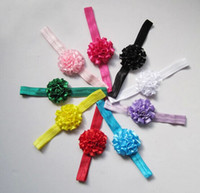 baby trial - Satin Flower Headbands Elastic head bands Babys Kid s Hairbands Baby Hair Accessories trial order drop shipping