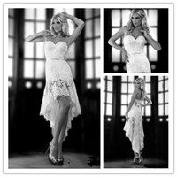 Newest Design 2014 New Sexy Sweetheart Hi- Lo Wedding Dresses...