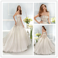 Best Selling 2014 Strapless Crystal Beaded Luxury Tulle Lace...