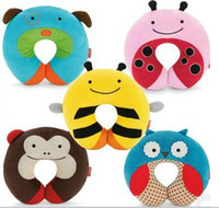 Wholesale SKP Cute Cartoon Zoo Children Baby Neck Pillow Travel U Pillow neck rest Dog Monkey Beetle Owl Bee