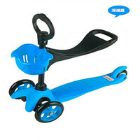 mini bike - Freeshipping Ride Ons Mini Micro in Special Edition Scooter Seat O Bar kids scooter ages baby walker with wheels Walk Learning bike