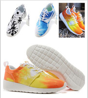 Wholesale Womens Running Shoes Women Roshe Run Shoe Running Shoes Blue Sky Palm Trees Sunset WMNS Roshe Run Sneakers Woman Sports Shoes size36