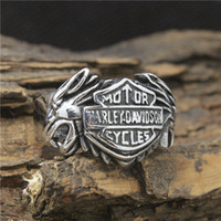 Wholesale Mens Cool Biker Style Cool L Stainless Steel Cool Eagle Wolf Head Newest Desgin Biker Ring Price
