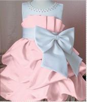 TuTu Summer A-Line Retail girl birthday dress 2014 children girls big bow dress Princess party dress chiffon Big bowknot dresse for summer