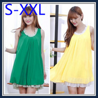 Cheap 2014 Hot Big Size Fat women Clothing Female Plus Size dress tops tank blouse sleeveless summer Lady Large Clothes s-xxl