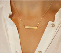 Wholesale Initial Bar Name Necklace k Gold Plated Personalized Engraved Bar Name Necklace