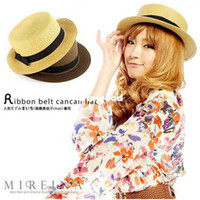 Wholesale 2014 New Fashion Fedora Cap Summer Beach Sun Straw Panama Hat For Women Tourism Hat